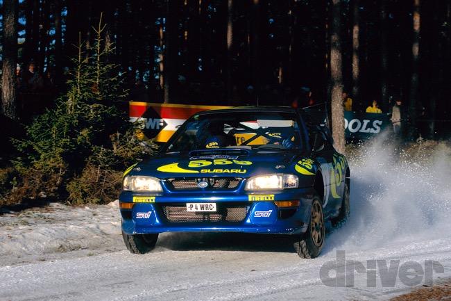 ●1997年のスウェディッシュを走るスバル インプレッサWRC97。ケネス・エリクソンが勝利している
