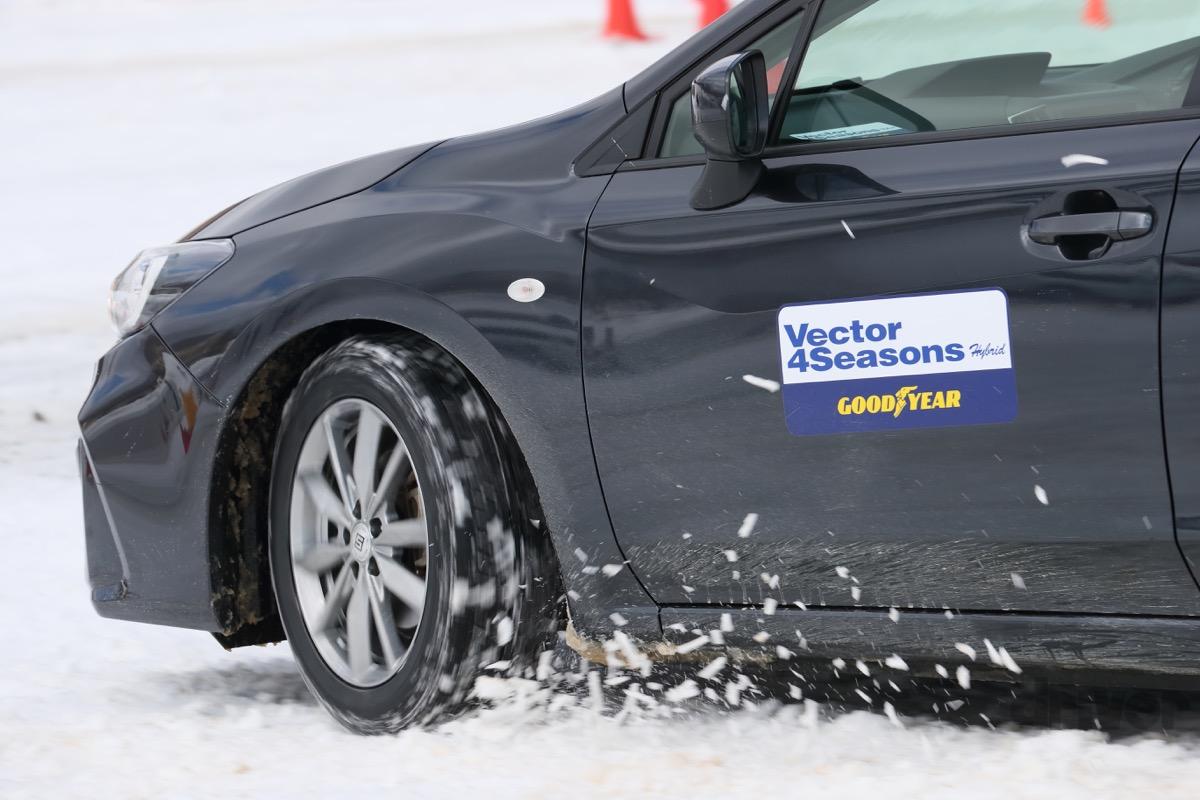 ●グッドイヤーのオールシーズンタイヤの雪上性能を試した