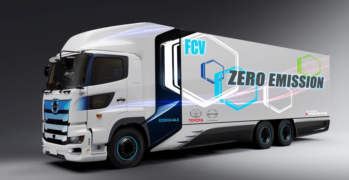 ●トヨタと日野が燃料電池大型トラックを共同開発。航続距離目標は600km