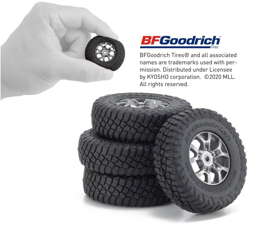 ●タイヤはSUVで定評のBFグッドリッチ社のマッドテレイン TA KM3を再現
