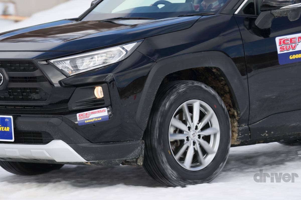 ●SUV向けスタッドレスタイヤ「アイスナビ SUV」と乗り比べた